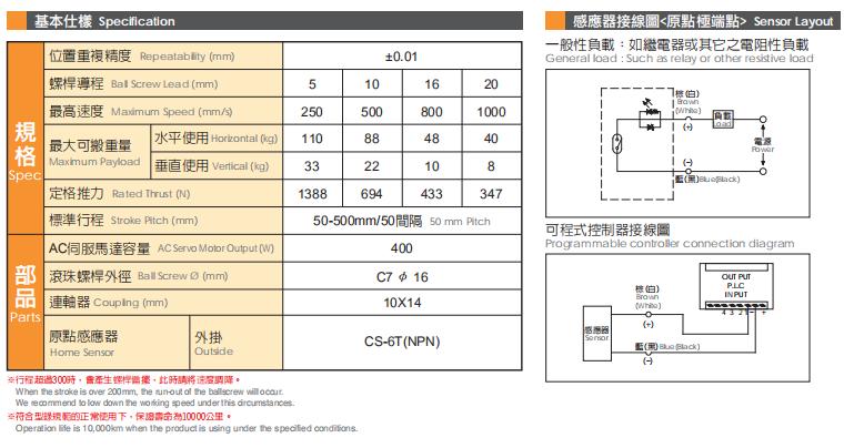 TOYO推杆式螺杆直线滑台Y65